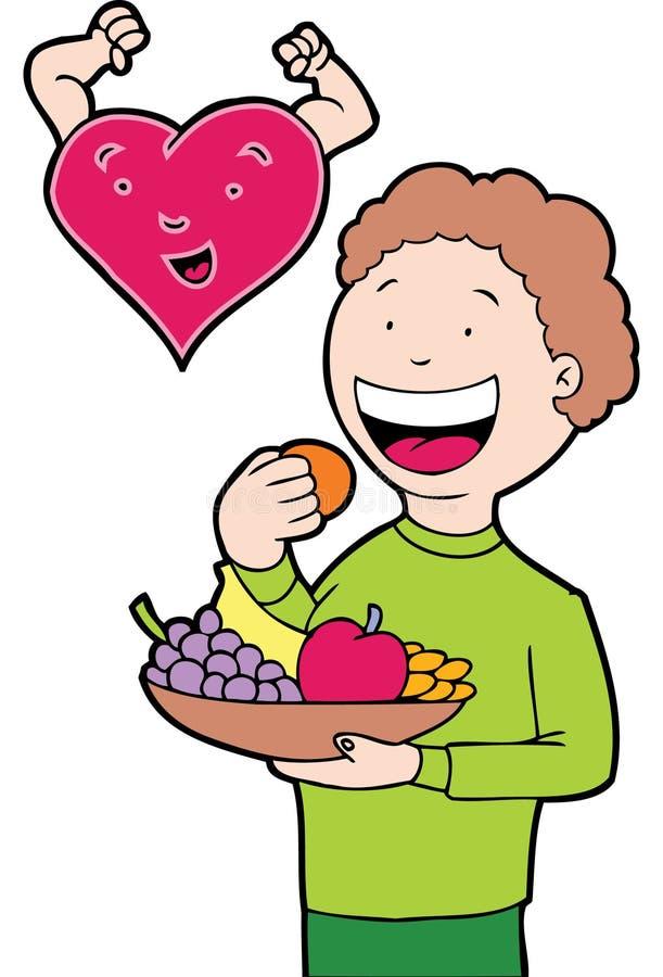 吃健康重点 向量例证