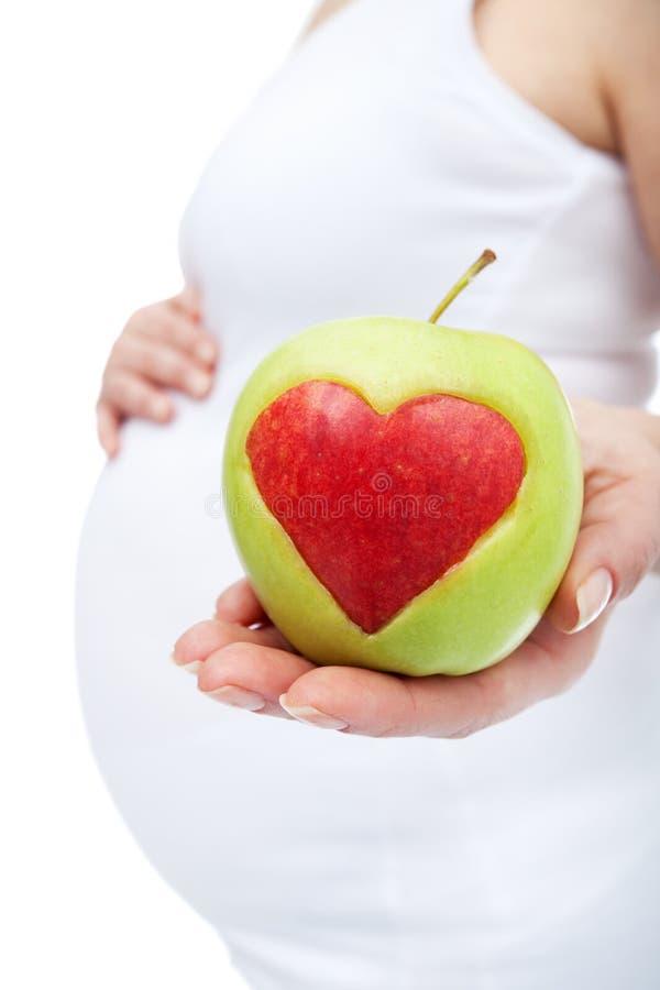 吃怀孕权利 免版税库存图片
