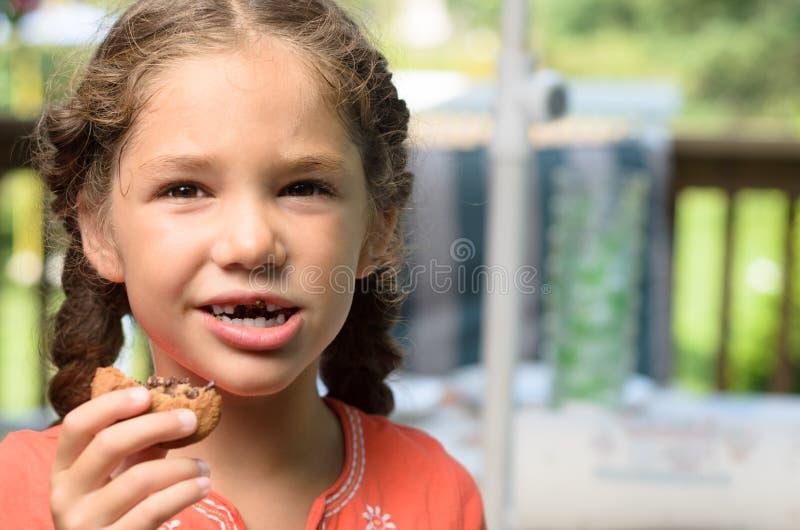 吃我的曲奇饼 免版税库存照片