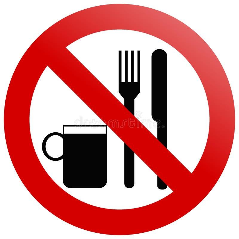 吃没有 向量例证