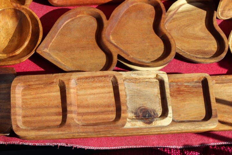 吃的木空的碗 库存照片