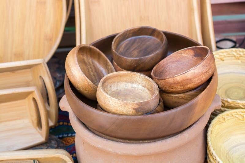 吃的木空的碗 库存图片