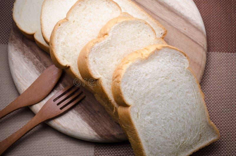 吃的白面包早晨 库存照片
