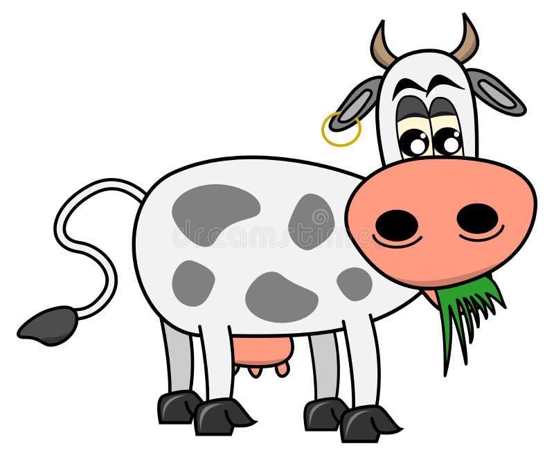 吃草的母牛 向量例证