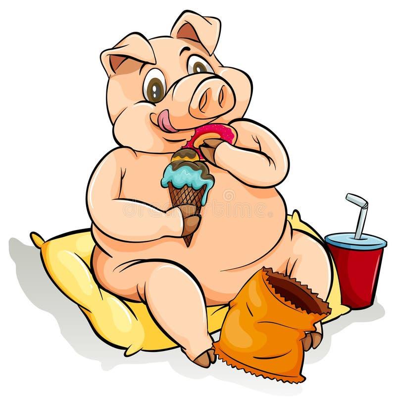 吃象猪成语 皇族释放例证