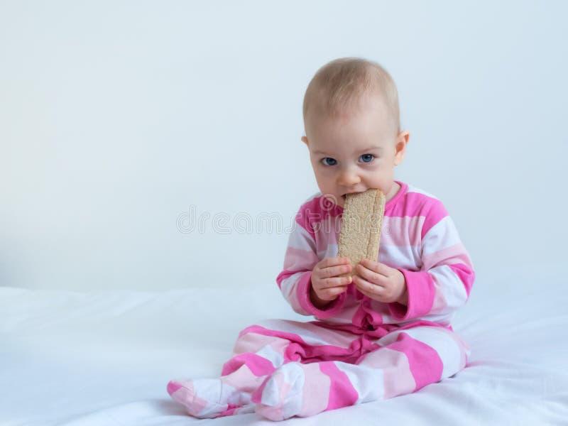 吃面包3的Patrycja 图库摄影