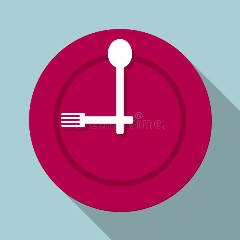 吃饭时间到了 向量例证
