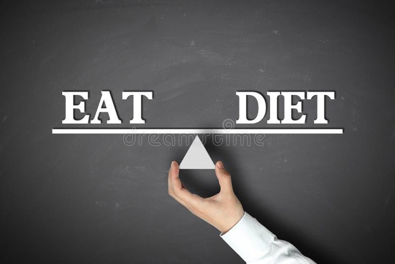 吃饮食平衡 库存图片