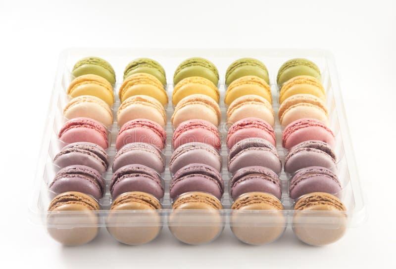 各种各样法国人Macarons味道 免版税图库摄影