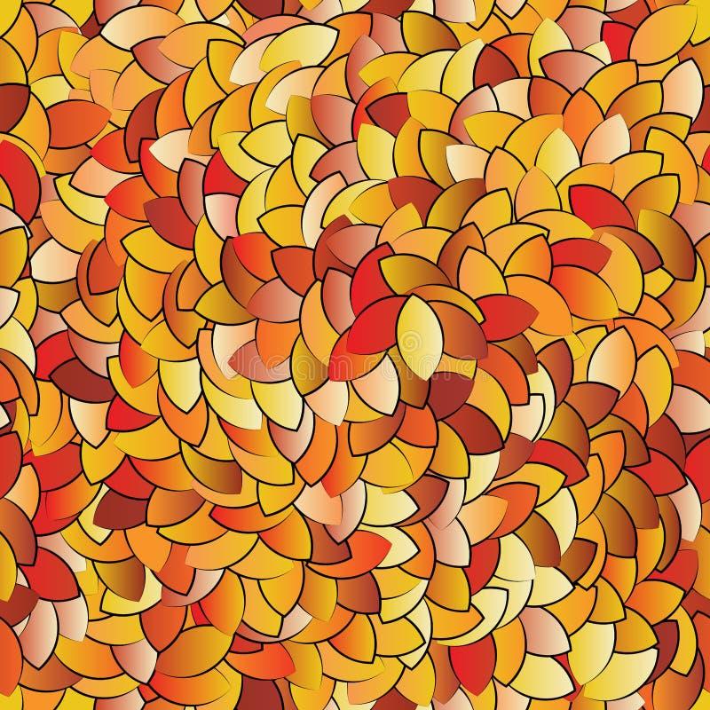 各种各样的下落的叶子无缝的纹理  皇族释放例证
