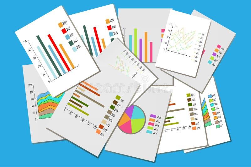 各种各样的企业图的五颜六色的收藏 免版税库存照片