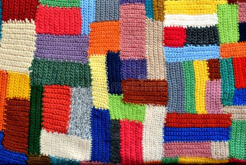 各种各样的创造性的任务的手工制造被编织的背景 免版税库存照片