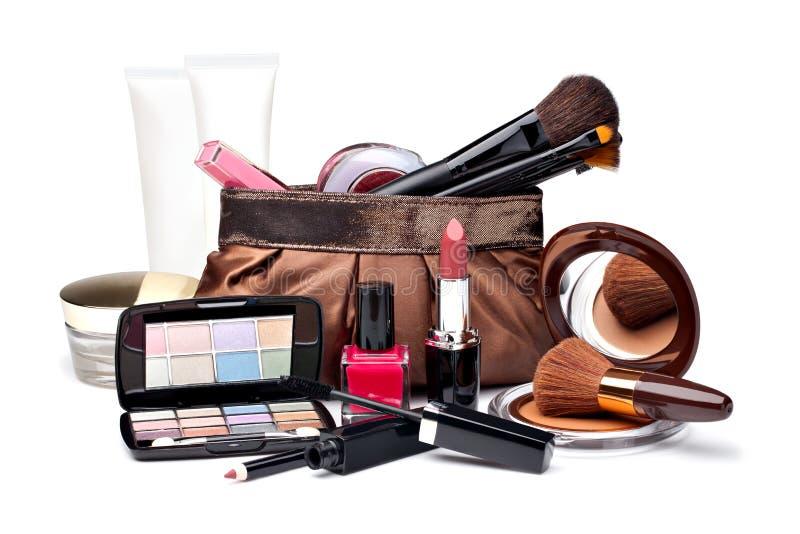 各种各样的化妆用品 免版税图库摄影