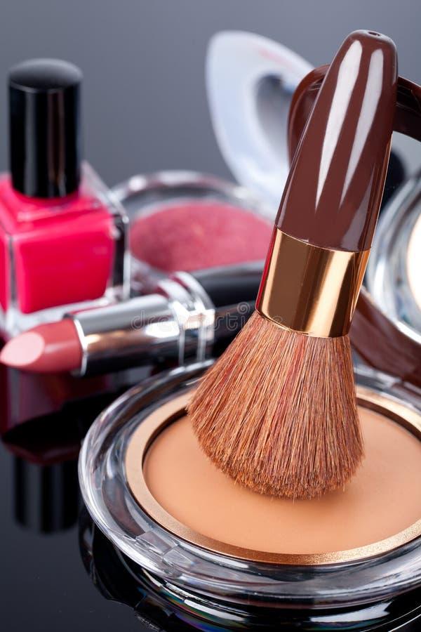 各种各样的化妆用品 库存图片