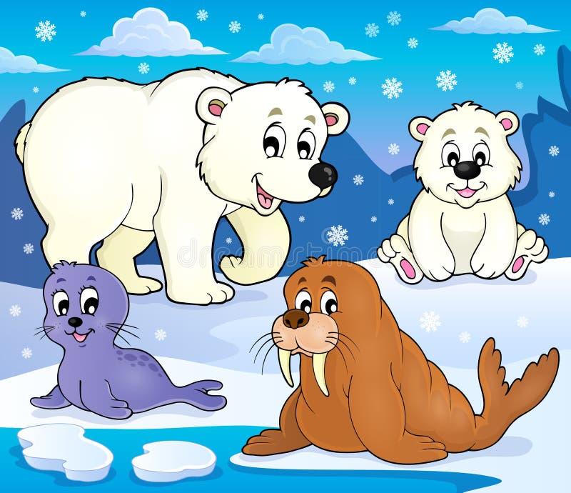 各种各样的北极动物题材图象1 向量例证