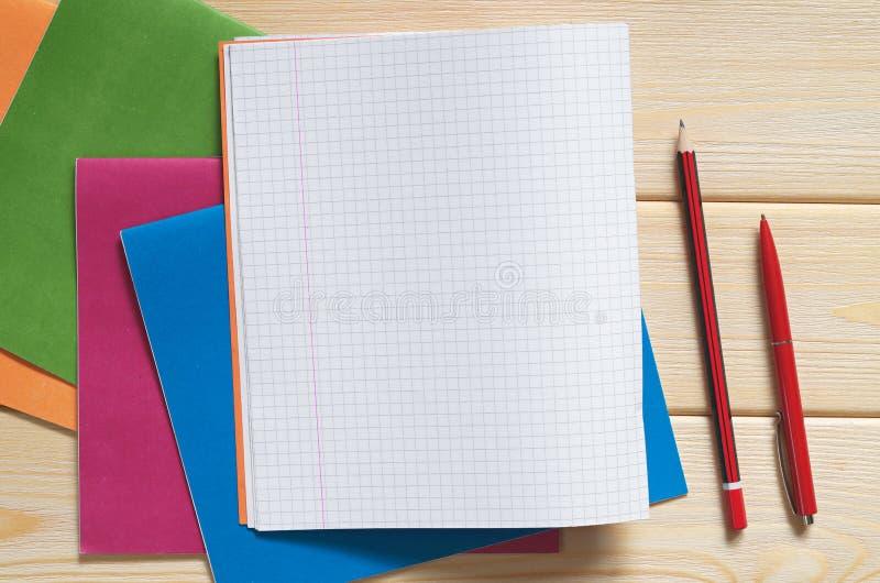 各种各样的学校笔记本 免版税库存照片