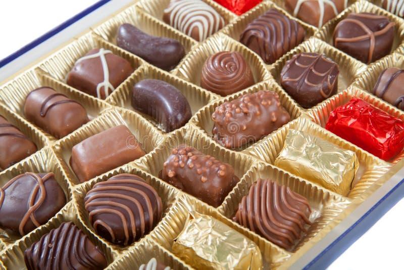 各种各样的巧克力糖 库存图片