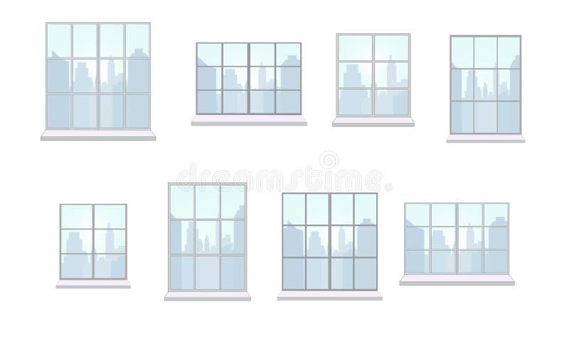 各种各样的形状窗架的汇集  库存例证