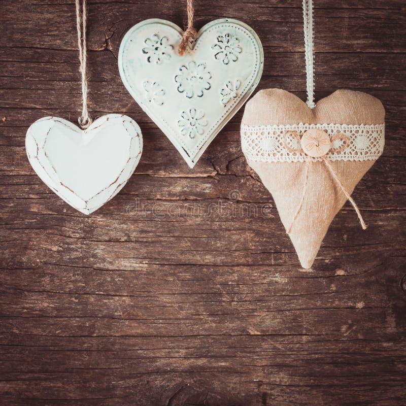 各种各样的心脏 免版税库存照片