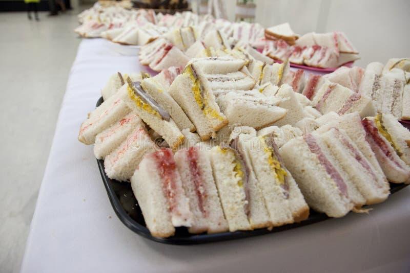 各种各样的手指三明治 免版税库存图片