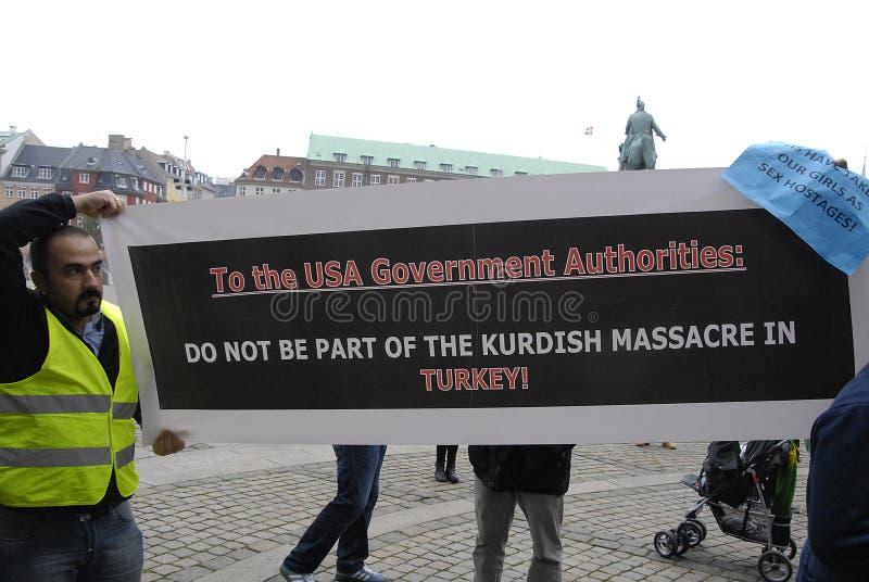 各种各样的抗议集会 库存照片