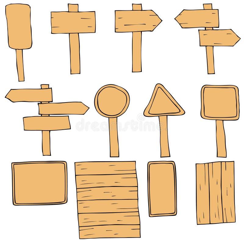各种各样的标志和标志 向量例证