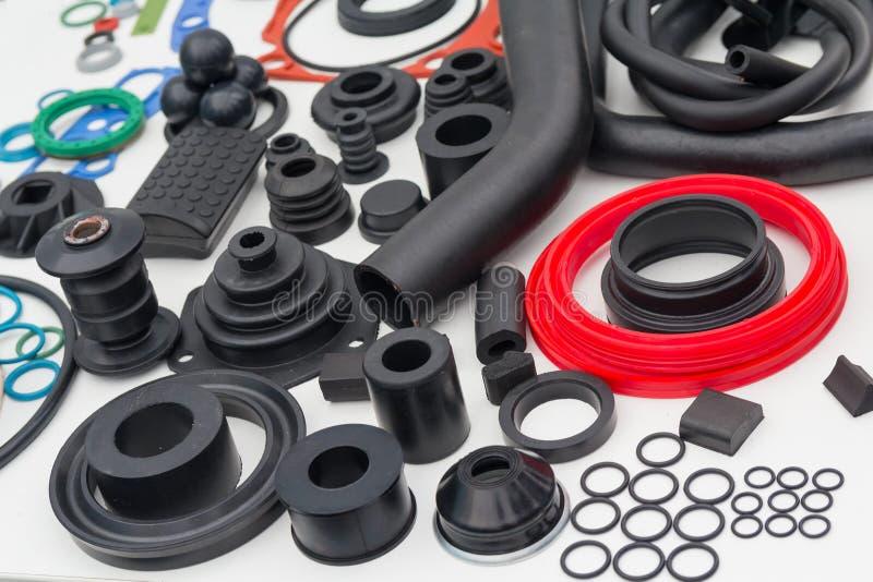 各种各样的橡胶产品和海豹捕猎产品在陈列s 免版税库存照片