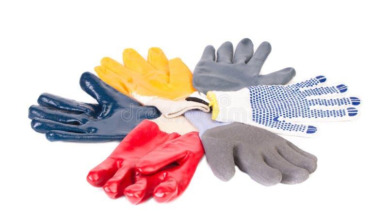 各种各样的橡胶工作者手套 图库摄影