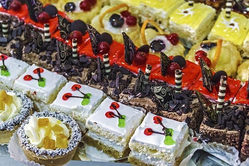 各种各样的甜点 库存图片