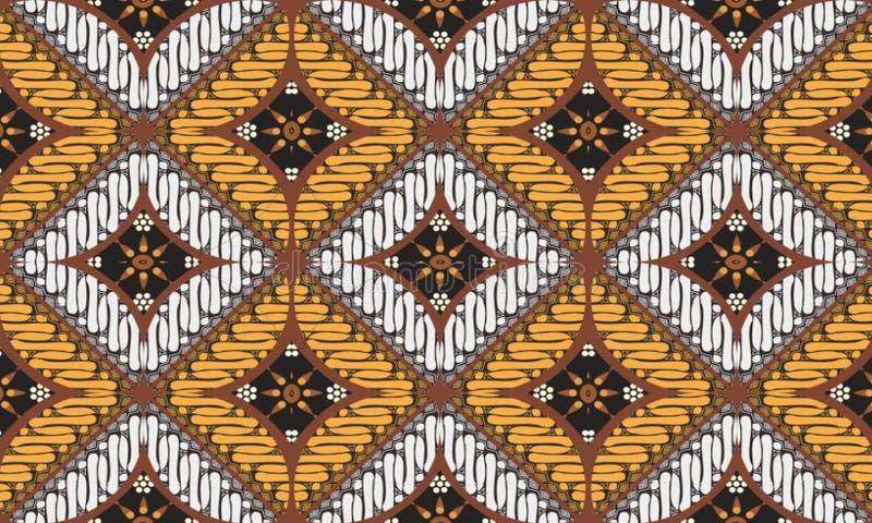 各种各样的种类主题、印度尼西亚蜡染布设计的样式和颜色是新的样式 适用于各种各样的目的 库存例证
