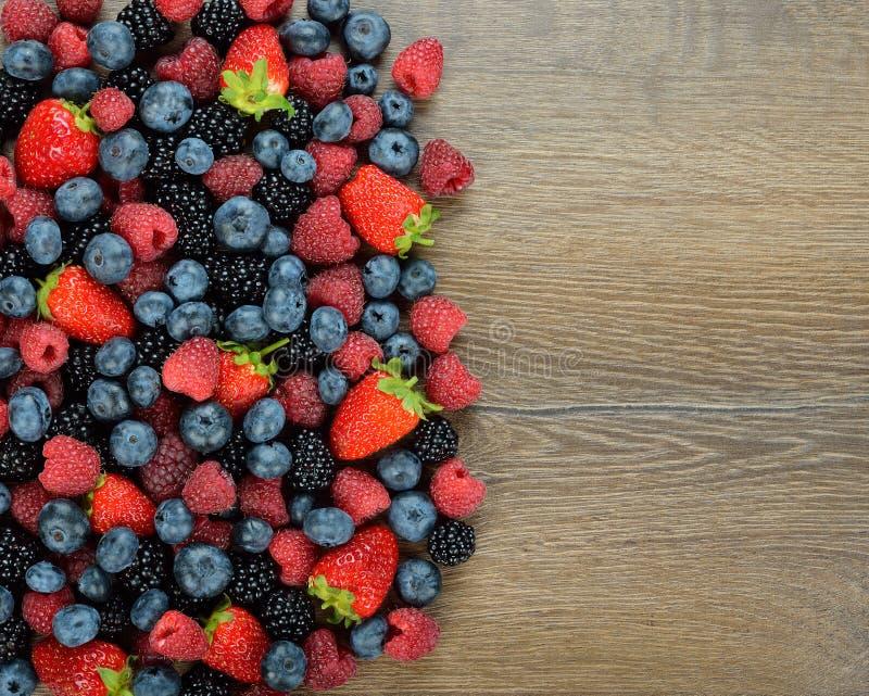 各种各样的莓果 免版税库存照片