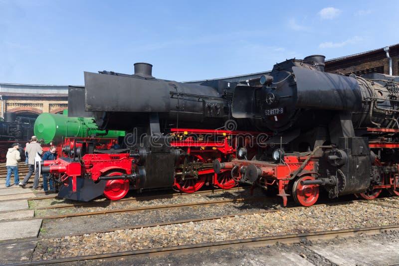 各种各样的蒸汽机车 库存照片