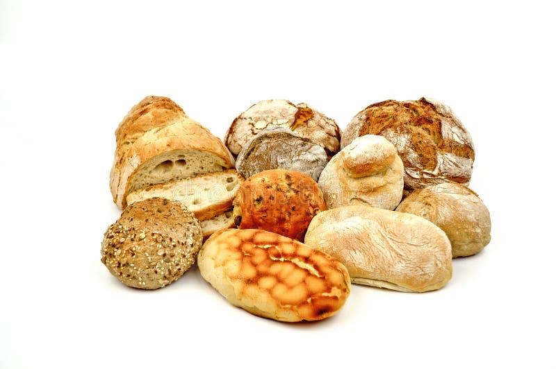 各种各样的面包。 免版税库存照片