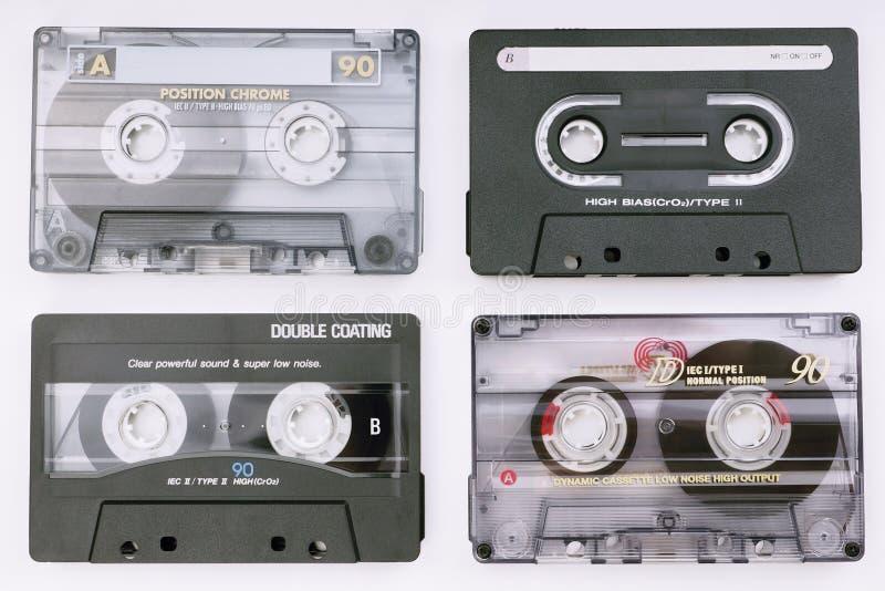 各种各样的音乐磁带 免版税库存照片