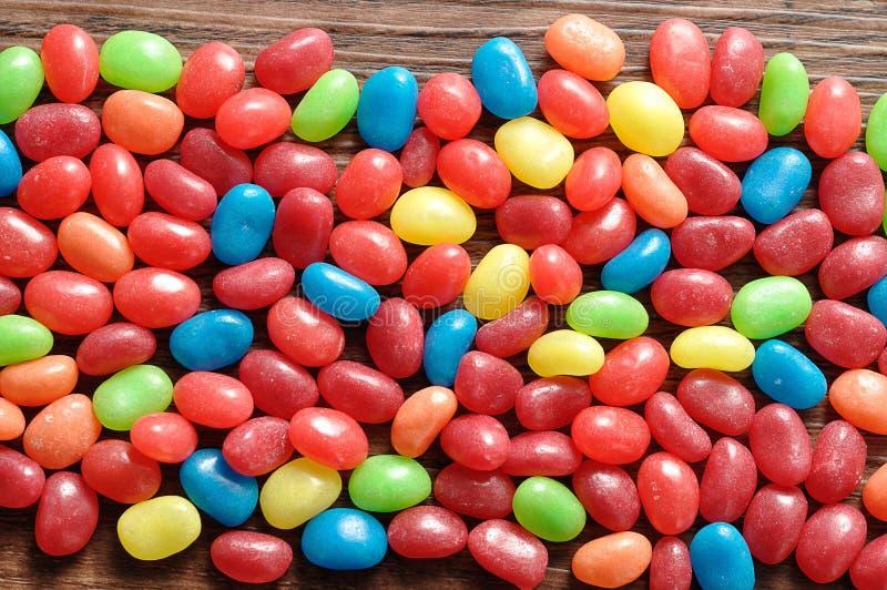 各种各样的颜色软心豆粒糖 库存图片