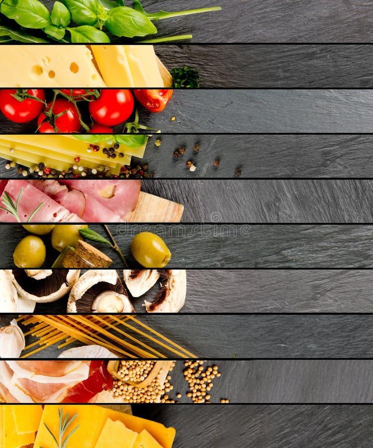 各种各样的食物混合 库存照片