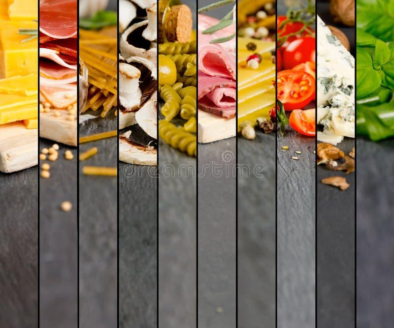 各种各样的食物混合 库存图片