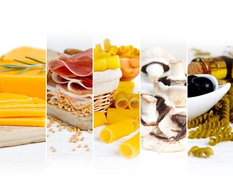 各种各样的食物混合 免版税库存照片