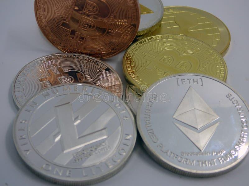 各种各样的cryptocurrencies 库存图片