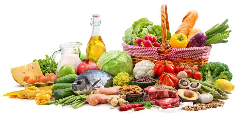 各种各样的paleo饮食产品的选择健康营养的 库存图片