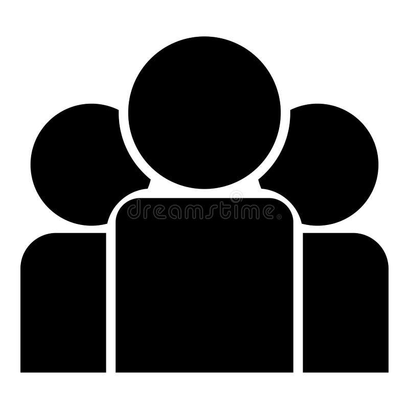 合作人象黑色彩色插图平的样式简单的图象 向量例证