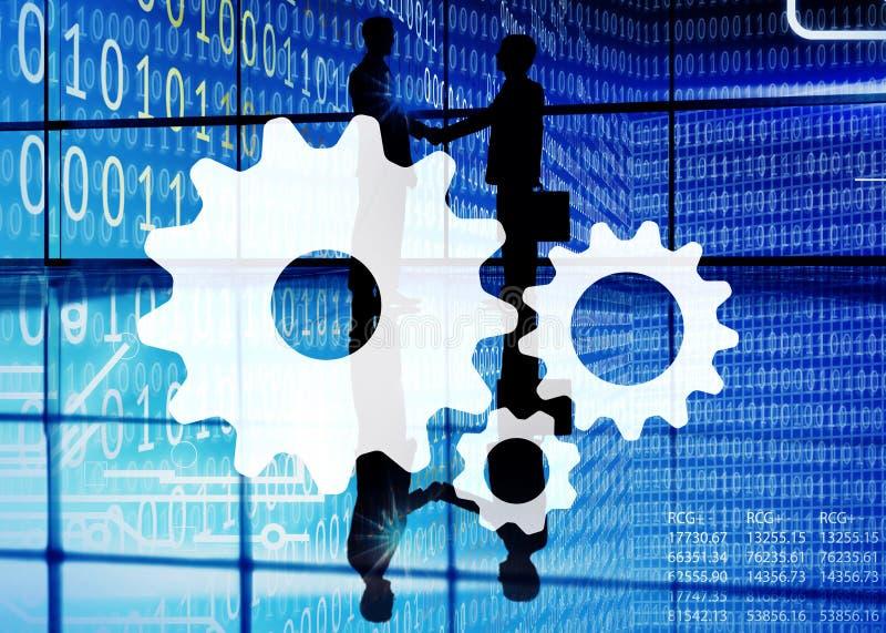 合作同事合作连接支持概念 免版税库存照片