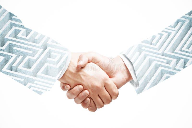 合作和企业挑战概念 免版税库存图片