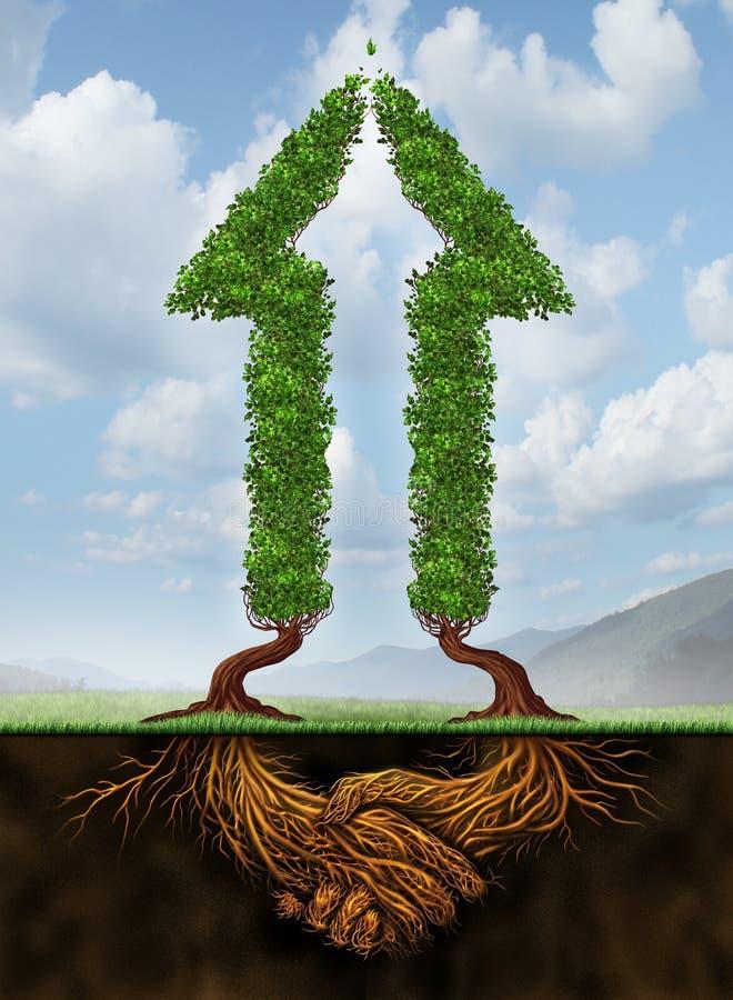 合作增长的 向量例证