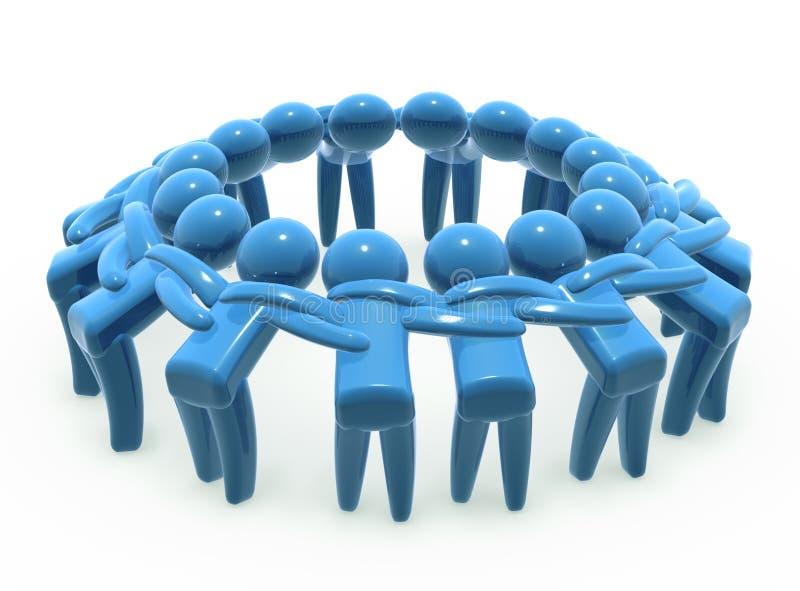 合作小组团结 向量例证