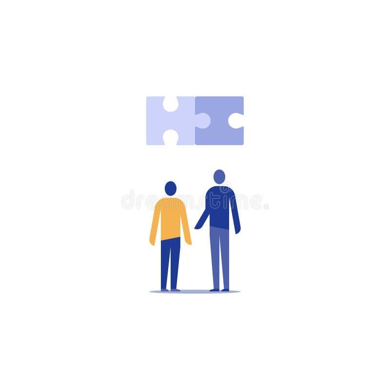 合作工作概念,共同基础,技术人,工程师,项目编制 皇族释放例证