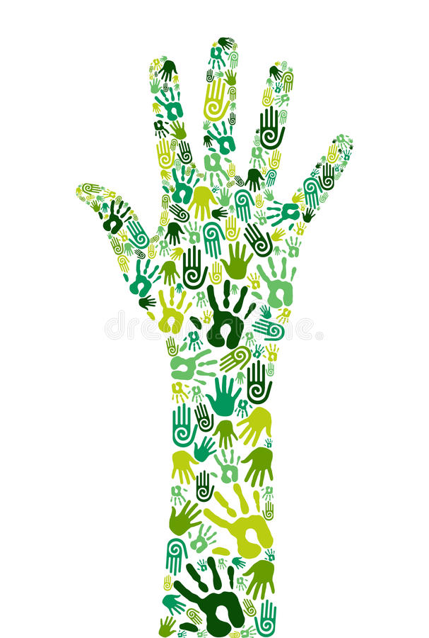 合作是绿色现有量 皇族释放例证