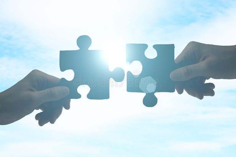 合作的概念 免版税库存照片