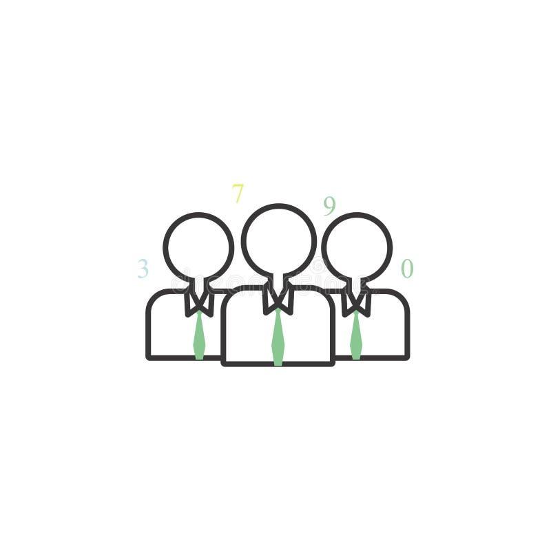 合作色的象 事务的元素流动概念和网apps象的 网站设计和developm的稀薄的线象 皇族释放例证