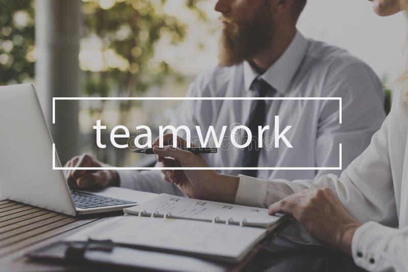 合作配合经营战略目标词 免版税库存图片
